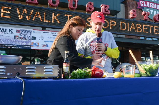 FDG supports Diabetes at the 2014 STEP OUT Walk held at Turner Field.  Featured among many activities at the Walk was a  Live Cooking Demonstration!
