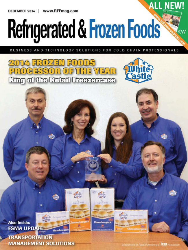 White Castle project is names 2014 Refrigerated and Frozen Foods Processor of  the Year